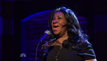 Aretha Franklin during an appearance on NBC's 'Late Night with Seth Meyers.'