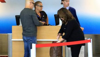 Valerie Bertinelli departs from LAX with her husband