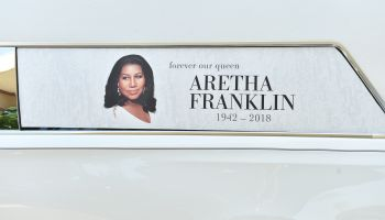 Celebrities arrive for the funeral service of Aretha Franklin