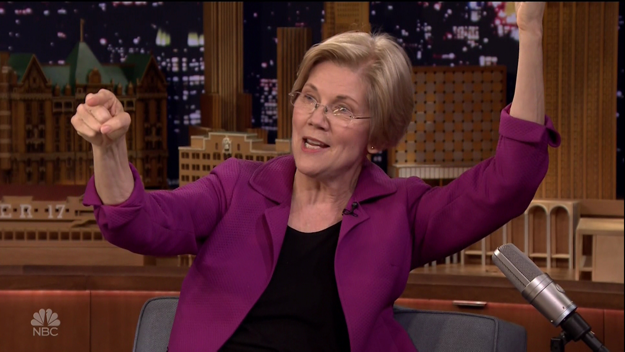 Elizabeth Warren during an appearance on NBC's 'The Tonight Show Starring Jimmy Fallon.'