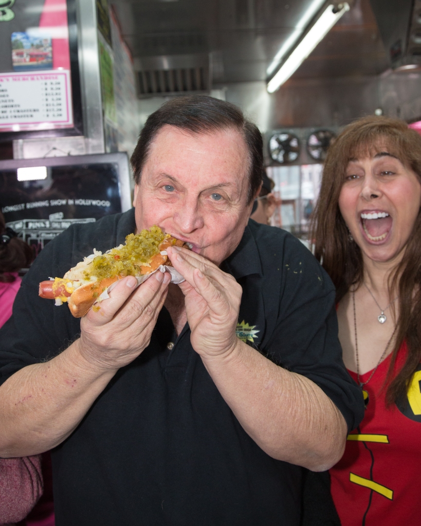 Pink's Hot Dogs honors Burt Ward, 'Robin', from 'Batman' with a hot dog named after him