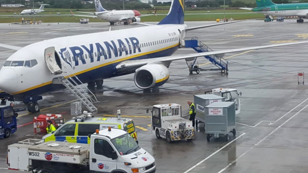 Ryanair plane bound for Birmingham is held at Dublin airport