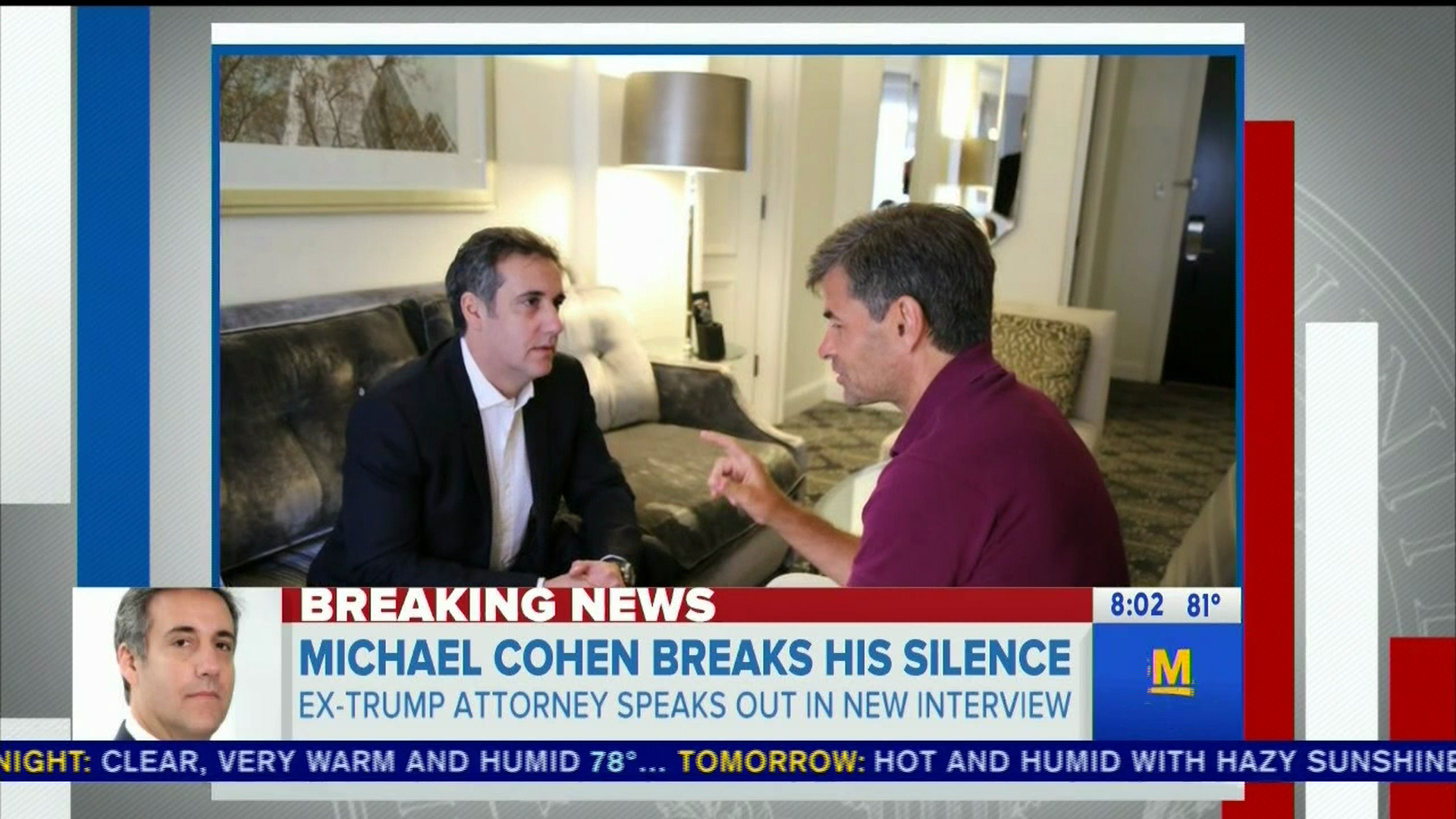 Michael Cohen teases new interview as seen on ABC's 'Good Morning America.'