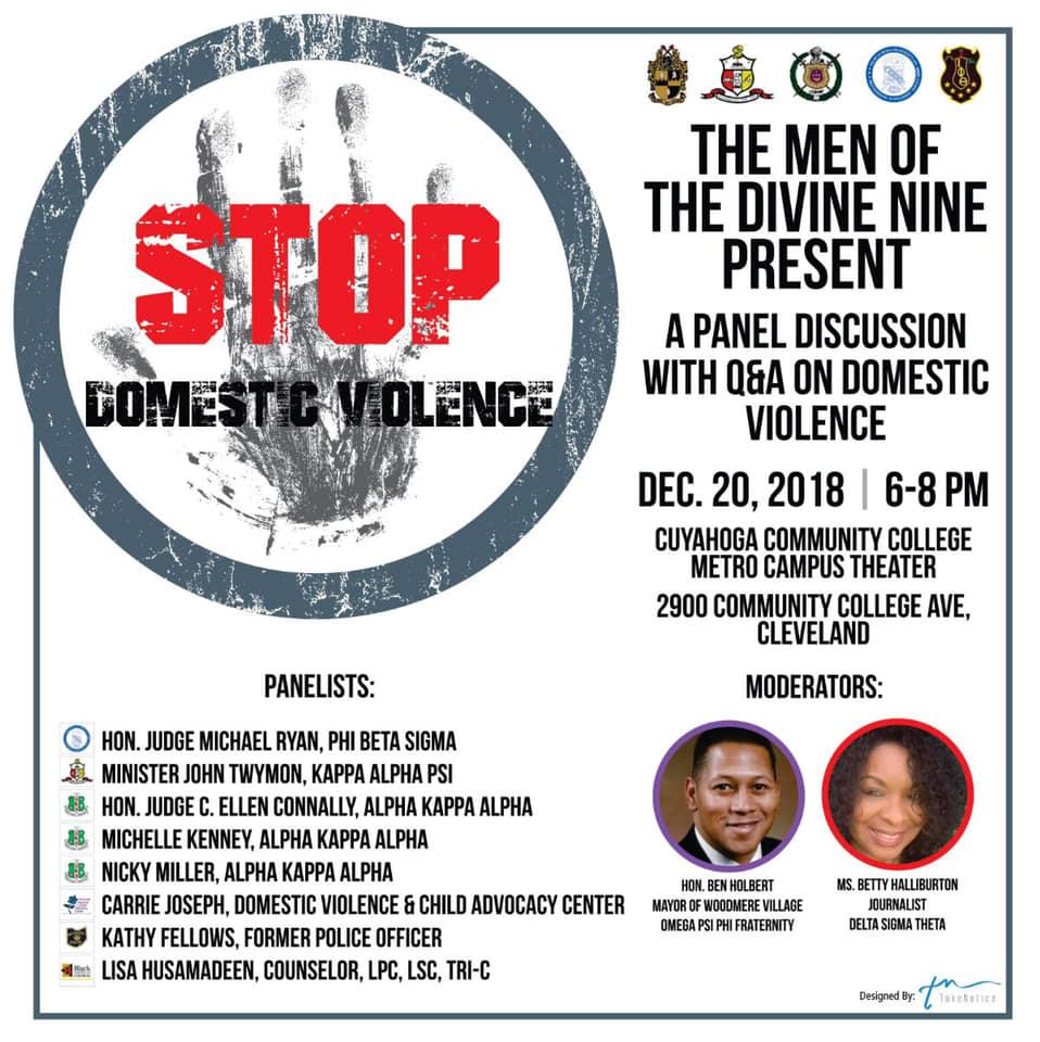 DV panel event flyer