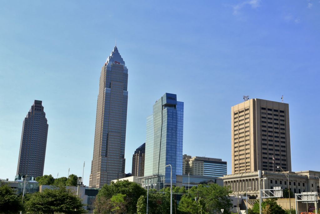 Big city skyline, Cleveland, Ohio, USA