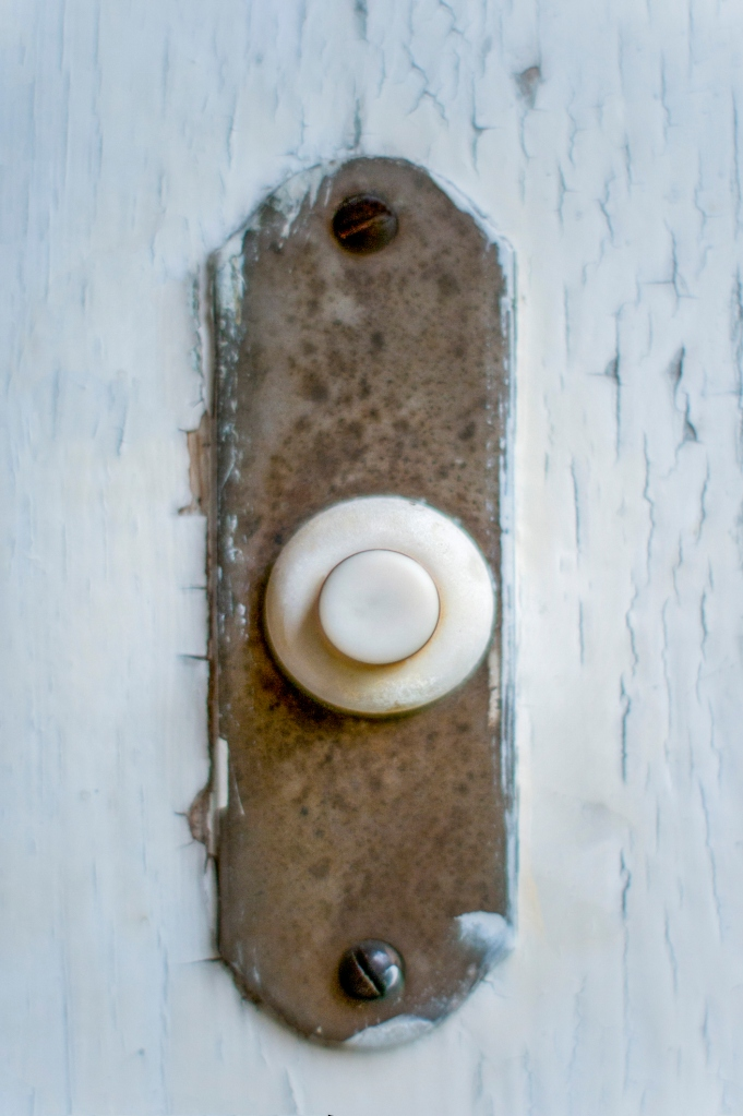 Old door bell button