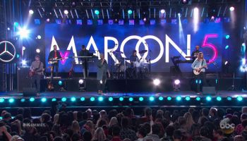 Maroon 5 during an appearance on ABC's Jimmy Kimmel Live!'
