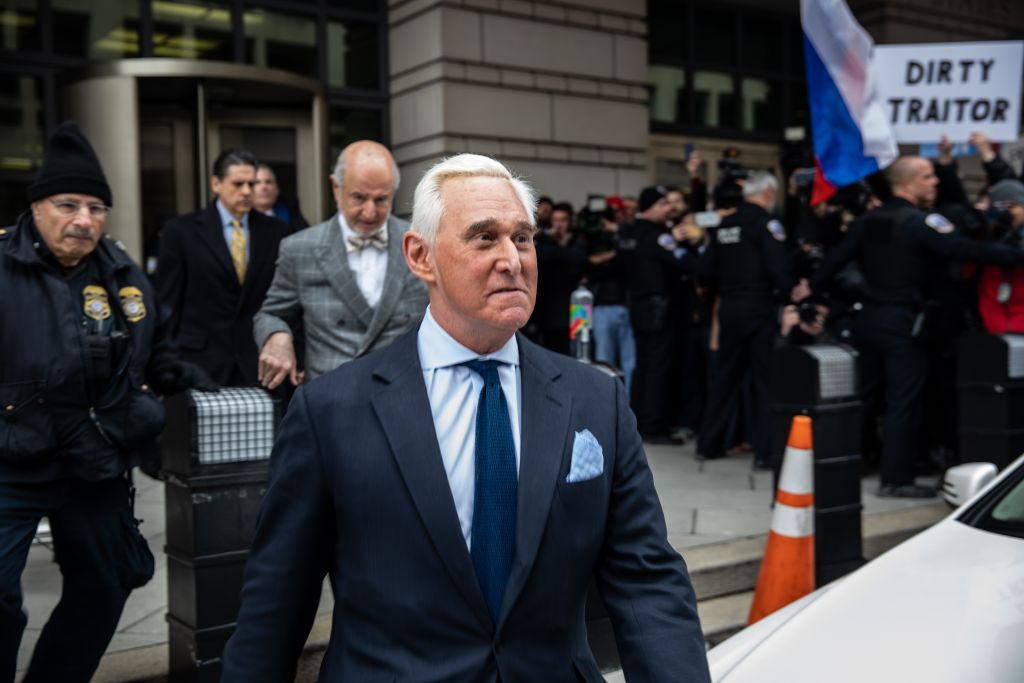 Roger Stone leaves Federal Court in Washington