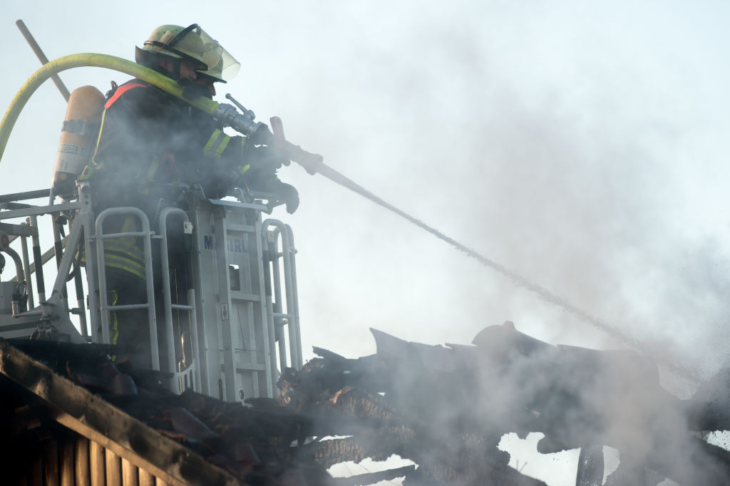 Roof truss burns out
