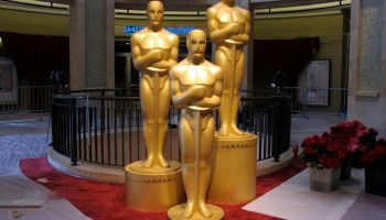 Oscar trophies at the Dolby Theatre in Hollywood