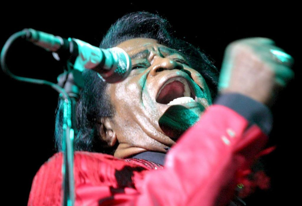US singer James Brown, 'The Godfather of Soul'...