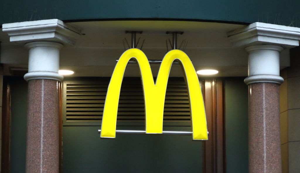 McDonalds restaurant and brand logo seen in London, UK...