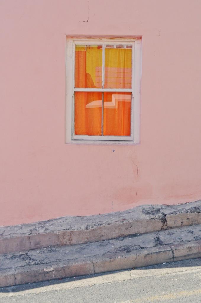 Window On Pink Wall