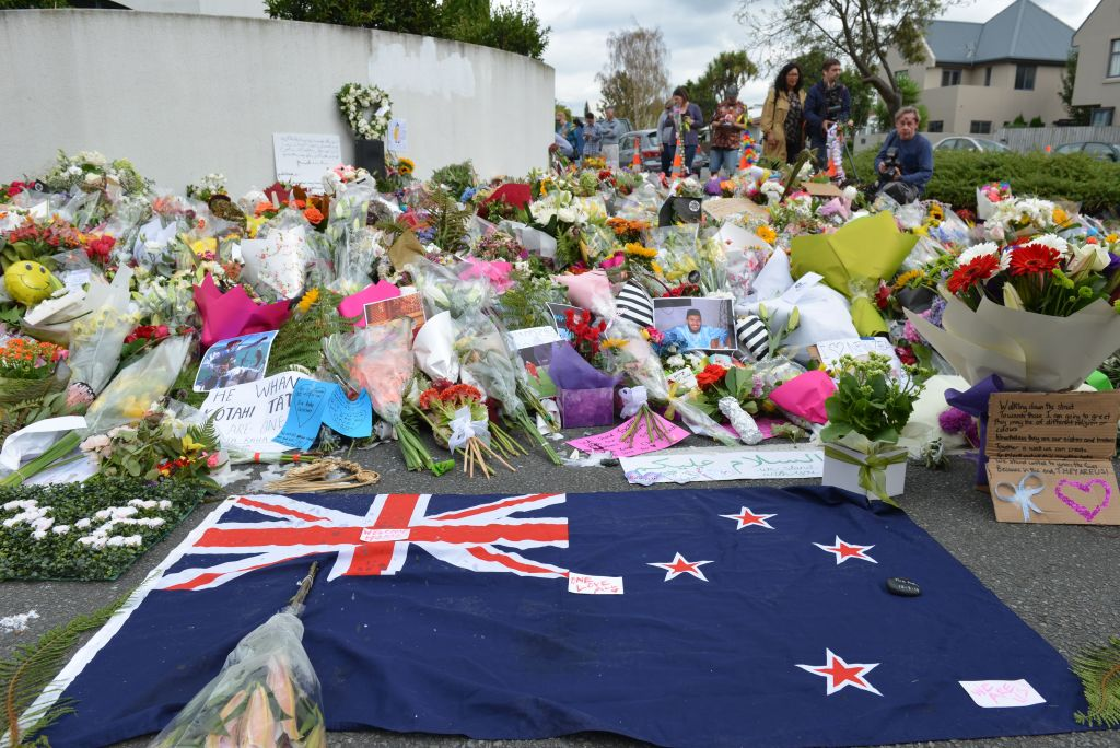 Tribute to victims of twin terror attacks in New Zealand