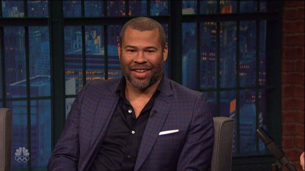 Jordan Peele during an appearance on NBC's 'Late Night with Seth Meyers.'