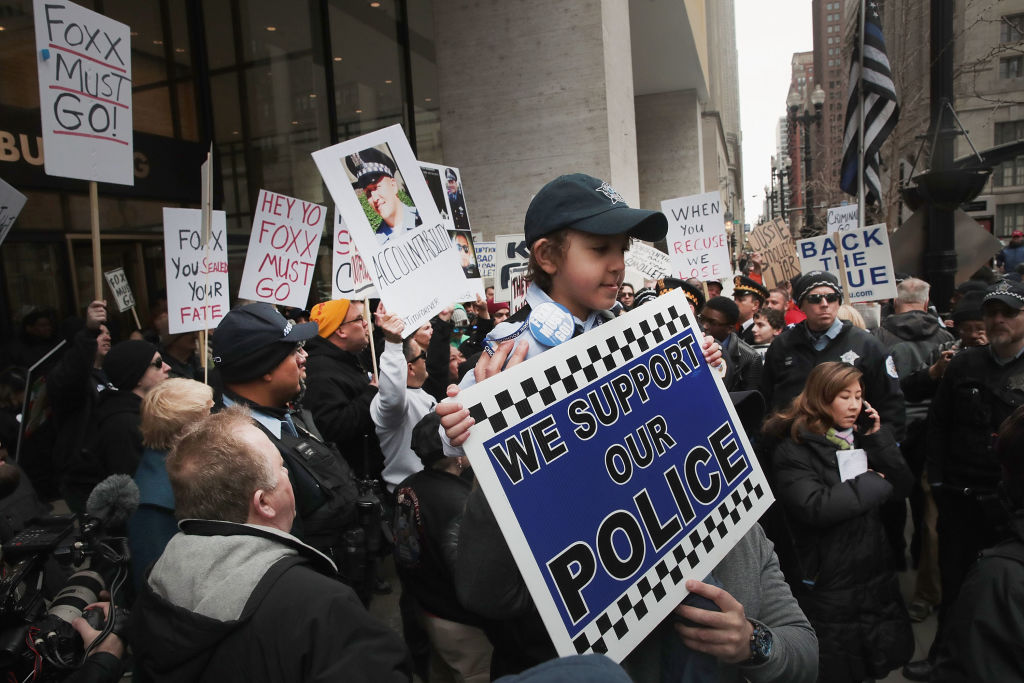 Chicago Police Protest State's Attorney Kim Foxx Over Jussie Smollett Case