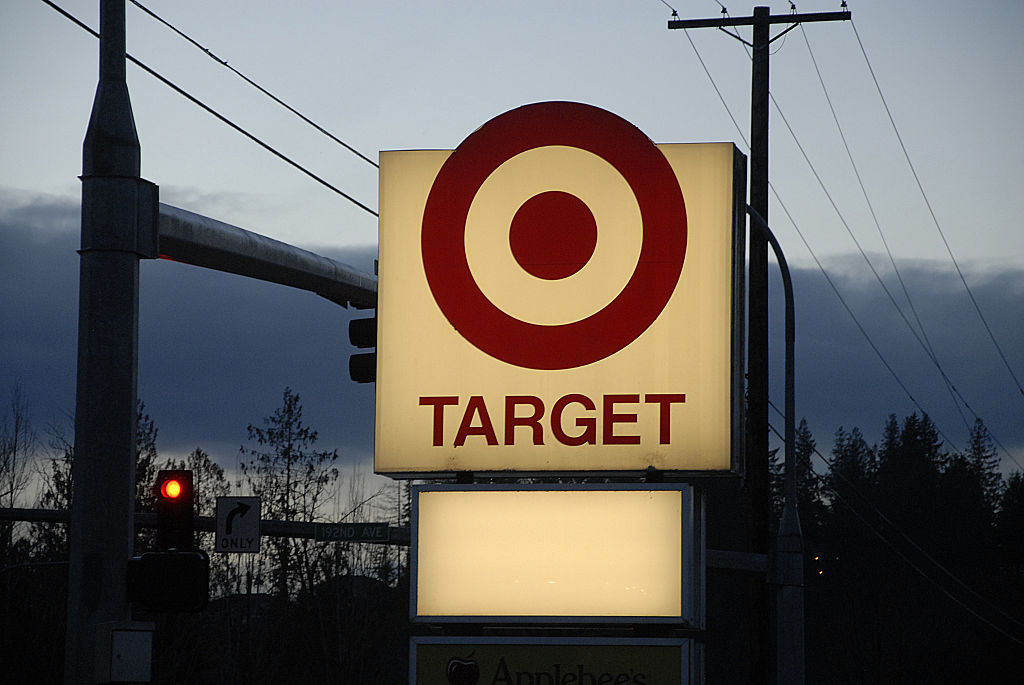 Target store sign in Buckley ,Washington, USA