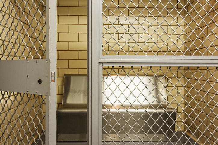 Empty Jail Holding Cell