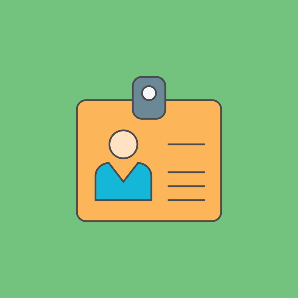 Id card outline icon