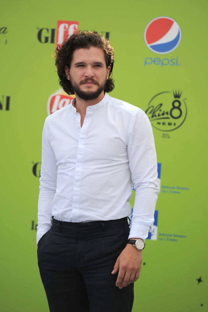 The English actor Kit Harington, that plays the role of Jon...