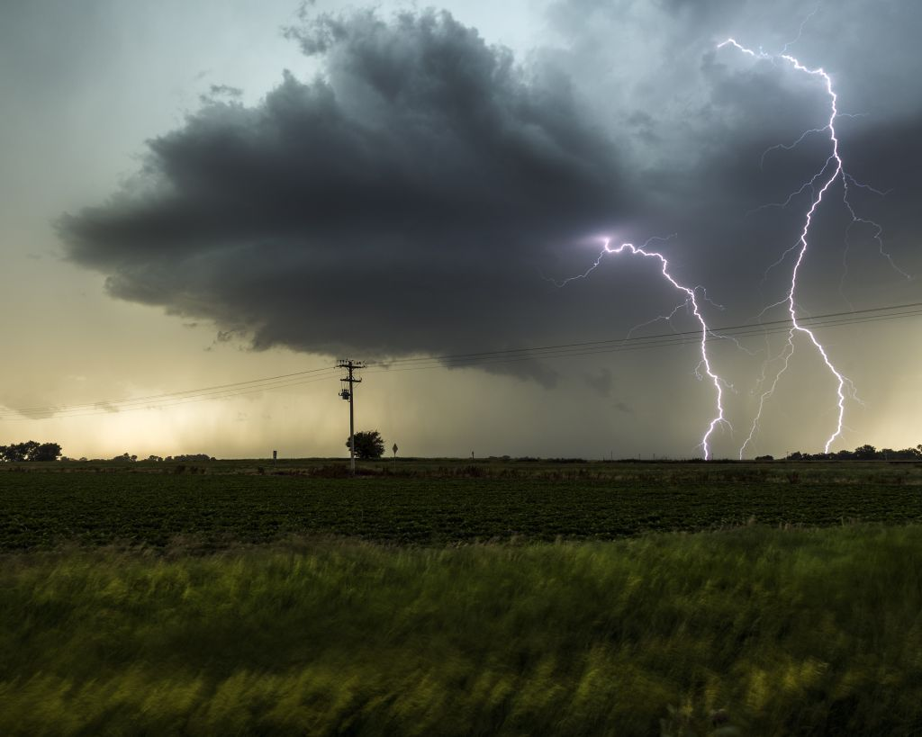 Stunning super storms in Nebraska USA