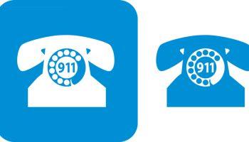Blue 911 Telephone Icons