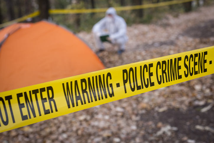 Forensics at the murder scene