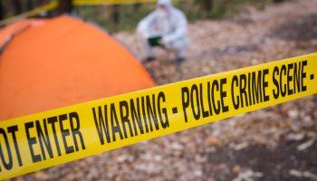 Forensics at the murder scene