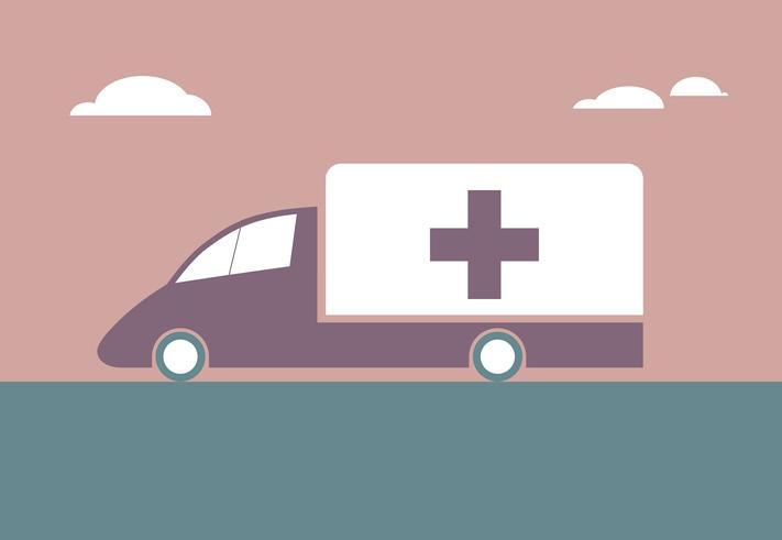 Vector drawn ambulance