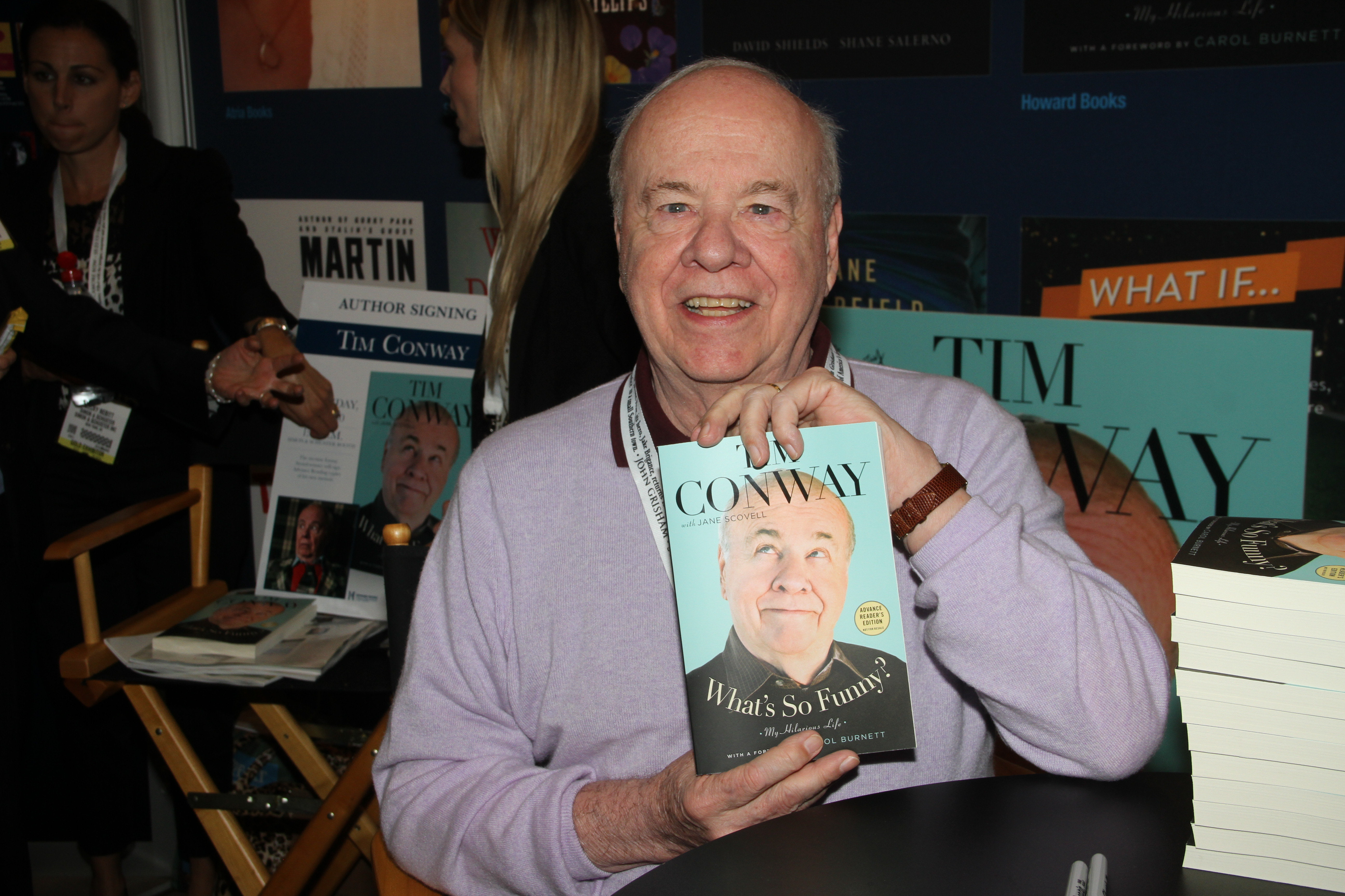 Tim Conway With His New Book