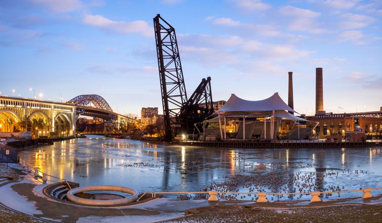 B&O Railroad Bridge, Cleveland, Ohio, America