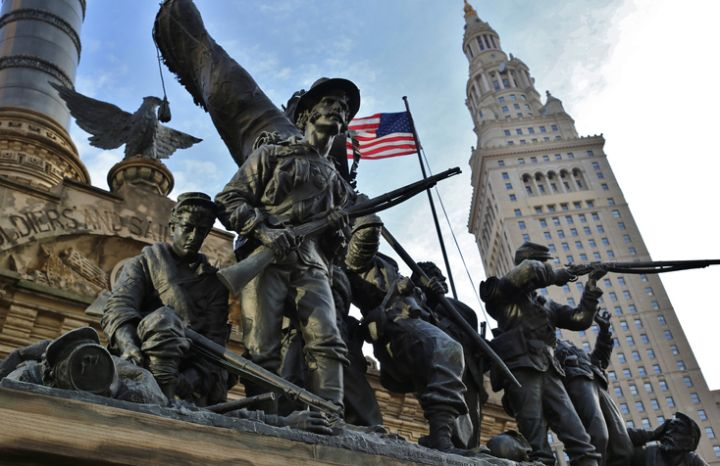 Soldiers and Sailors monument in Cleveland, Ohio, USA