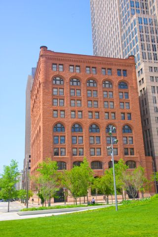 Downtown Cleveland's historic building on Public Square