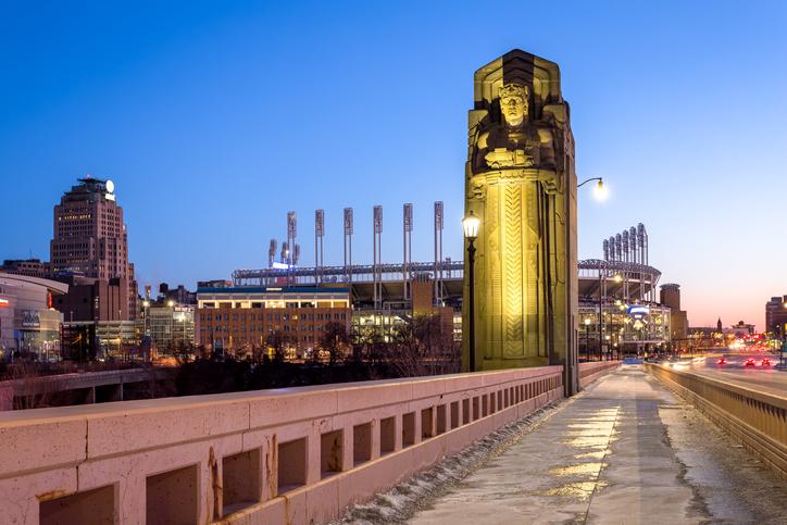 Carnegie Avenue, Progressive Field, Cleveland, Ohio, America