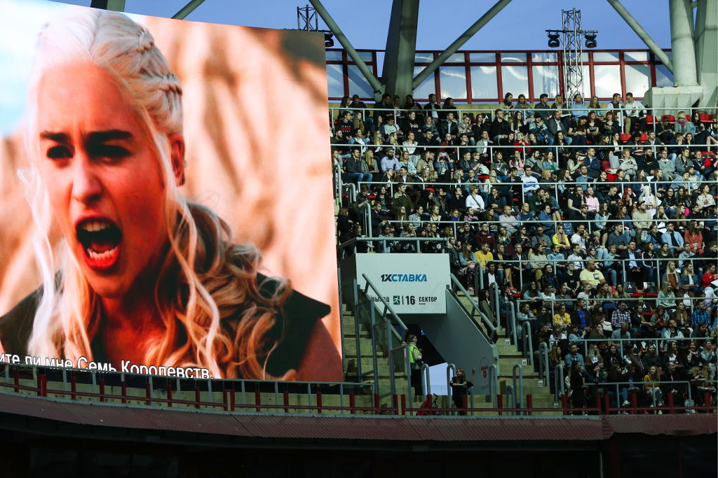 Screening of Game of Thrones final episode at RZD Arena