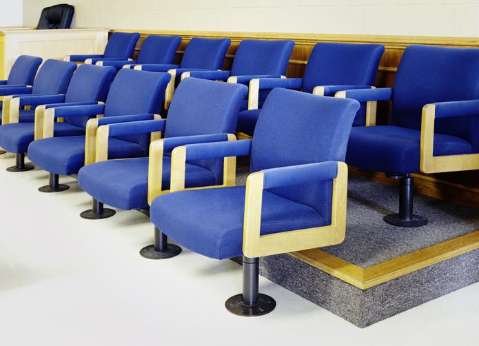 Blue Jury Seats
