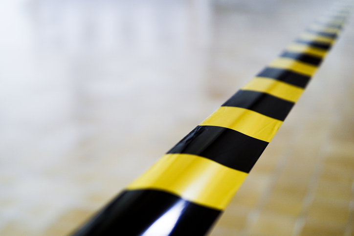 Close-Up Of Cordon Tape