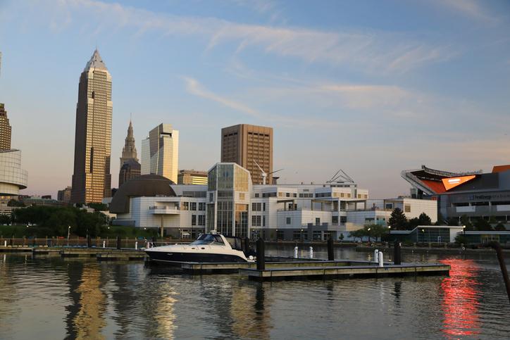 Cleveland City Skyline from Voinovich Bicentennial Park