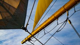 Detail of an Old Tall Ship's Sails