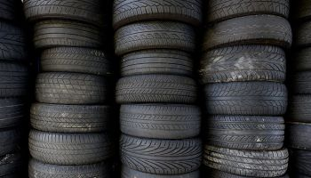 Stock-Tyres (Tires) in a Garage