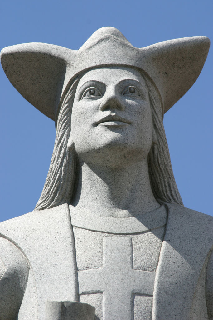 A Christopher Columbus statue on Murray Hill Road.