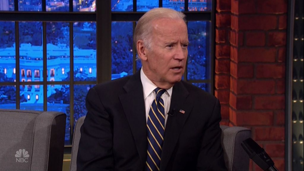 Joe Biden and Dr. Jill Biden during an appearance on ABC's 'Jimmy Kimmel Live!'