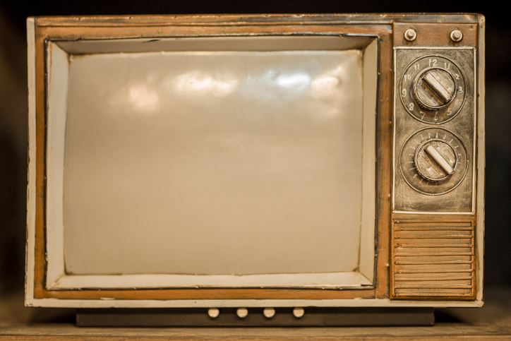 Close-Up Of Old Television Set