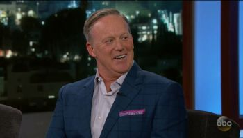Sean Spicer during an appearance on ABC's Jimmy Kimmel Live!'