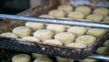 raw mooncake ready for baking