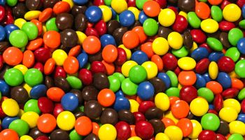Colorful assortment of M&Ms...