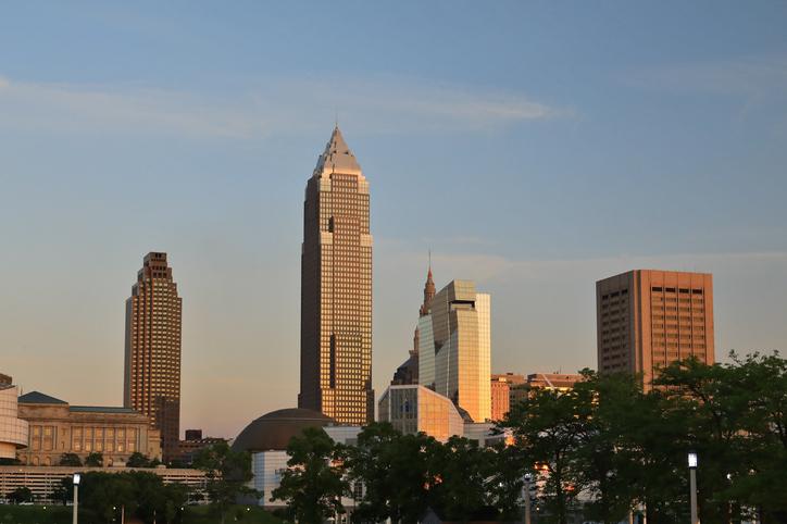 Downtown city skyline, Cleveland Ohio