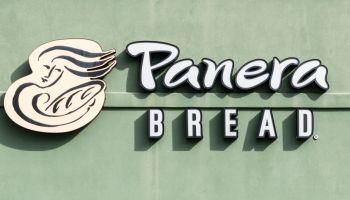 Panera Bread logo in North Brunswick Township, New Jersey...