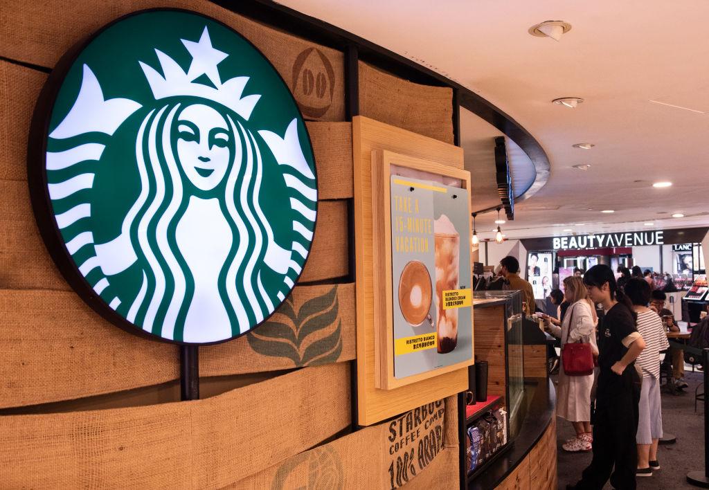 American multinational chain Starbucks Coffee store seen in...