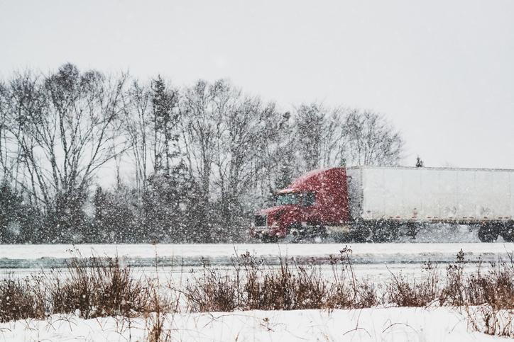 Trucking in Winter